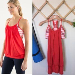 Lululemon | No Limits Tank Twin Stripe Love Red